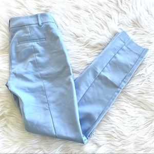 Express Columnist Sky Blue Skinny Work Pants